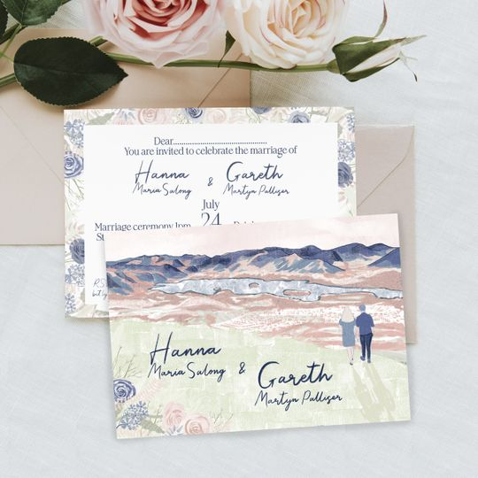 Double Sided Invitation