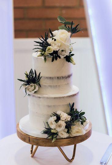 2 tier semi naked cake