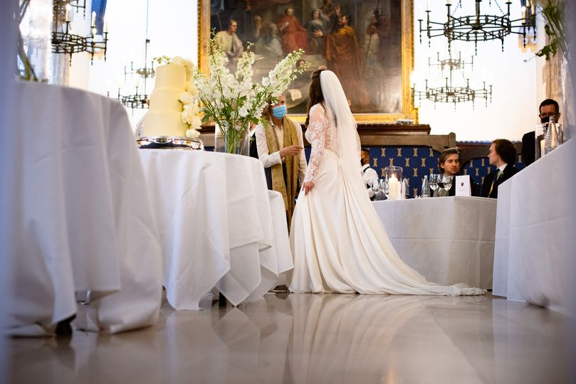 Bride in Old Hall