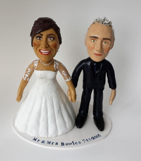 Detailed wedding cake topper