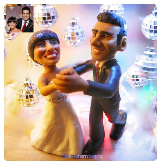 Flavia and Jimi cake topper