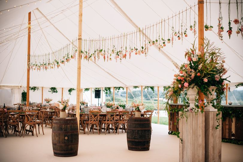 Rustic and refined marquee