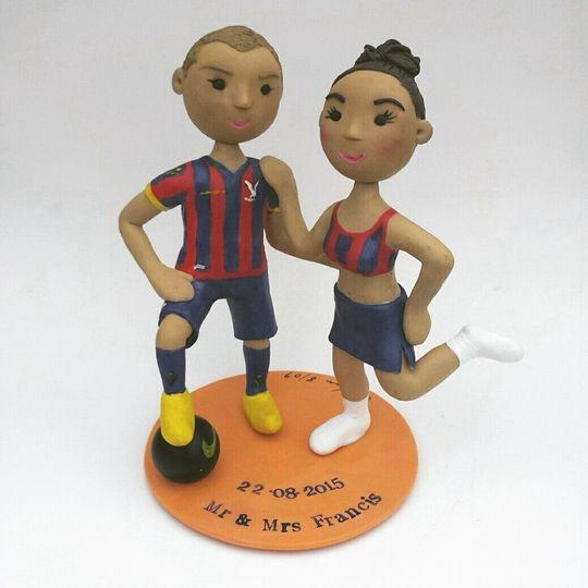 Football themed cake topper