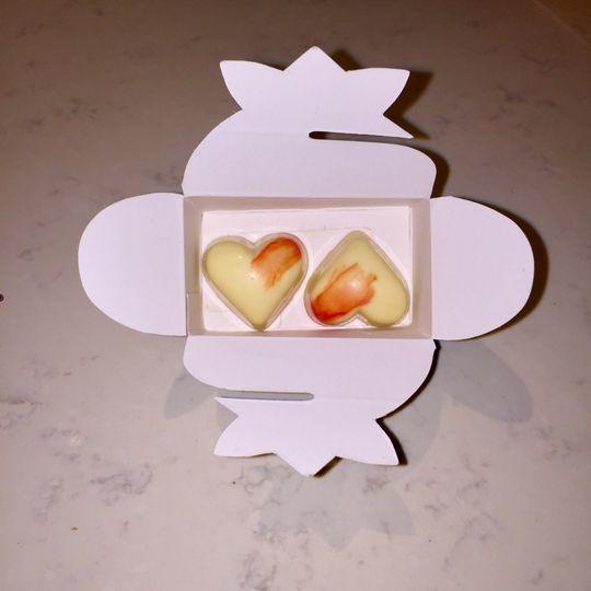 Passion fruit white chocolates