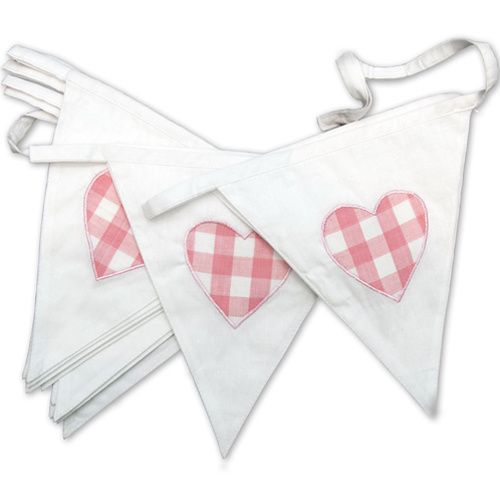 Pink Heart Bunting