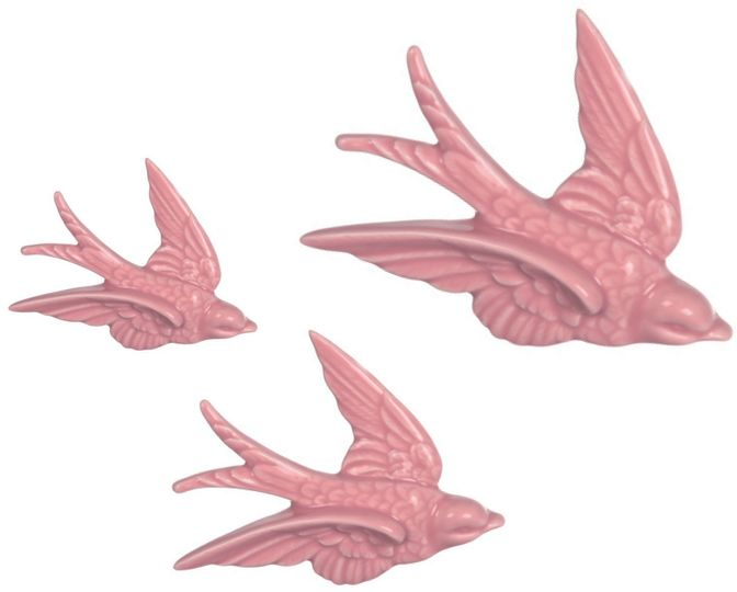 Pink Swallow Decorations