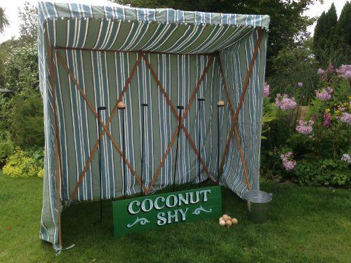 Edwardian coconut shy