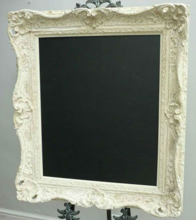 Chalkboard in a ornate frame
