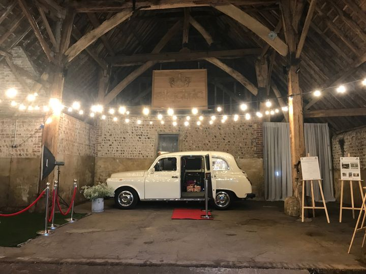 A wedding car that converts into a photo booth!