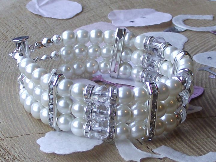Bridal Tri Cuff Bracelet