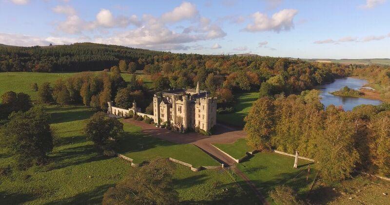 Duns Castle - Aerial