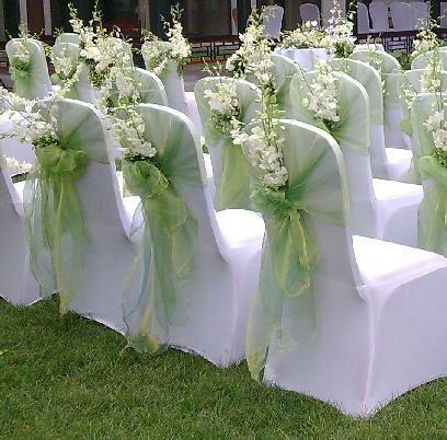 Pretty organza sash & flowers