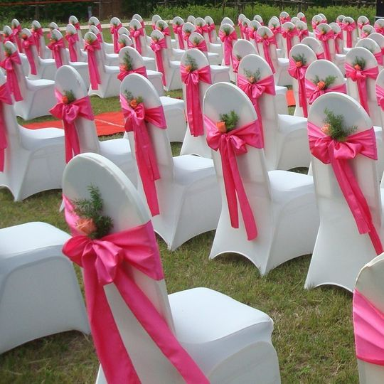 Pretty in pink satin sashes