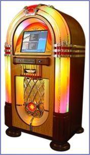 Arcade games and vintage jukeboxes