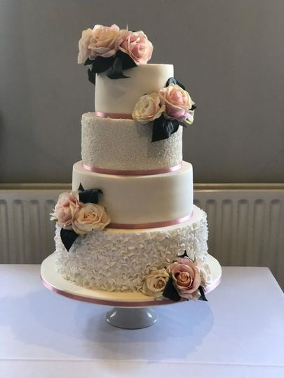 Four-tier elegant cake