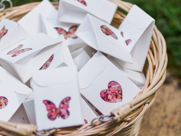 Petal confetti guest boxes