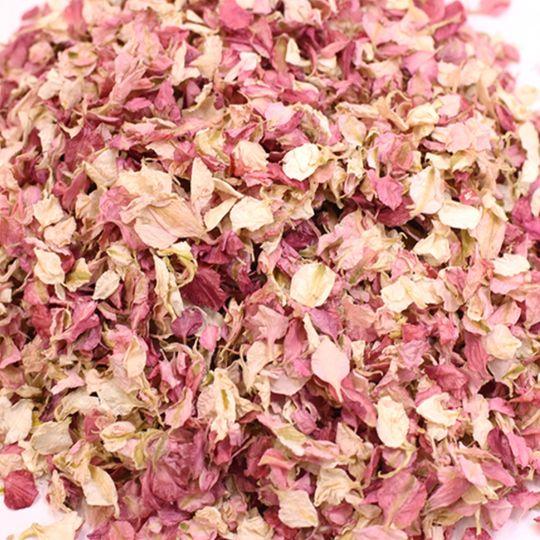 Assorted petals in blush tones