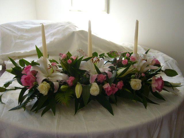 long table/fireplace arrangement