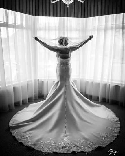 Bride by the window - Craige Barker Photography