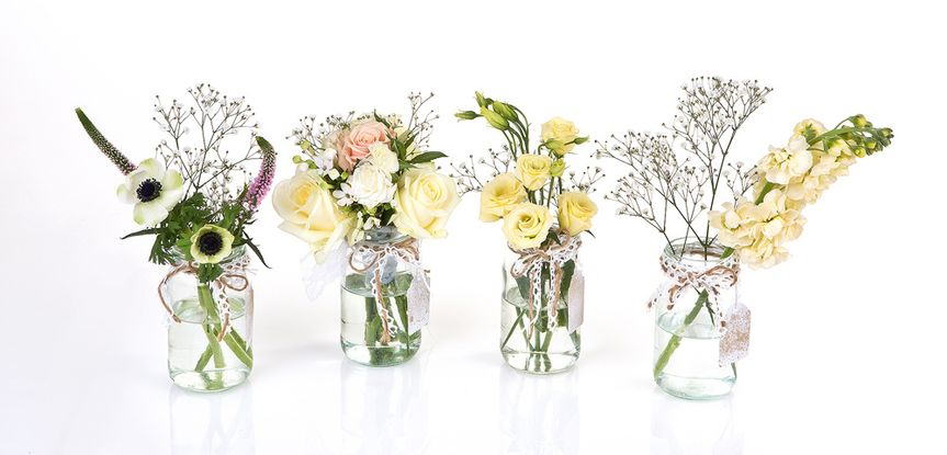 Lace vases for hire/purchase