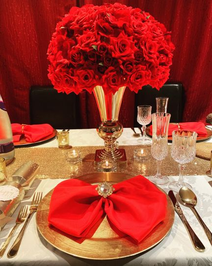Close-up of table settings