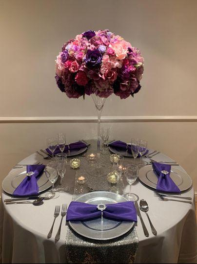 Purple & Grey/Silver set up