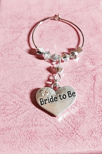 Personalised wine glass charms