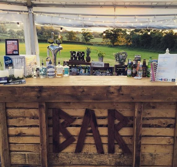 Wooden rustic bar