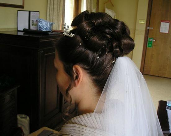 Hair with veil