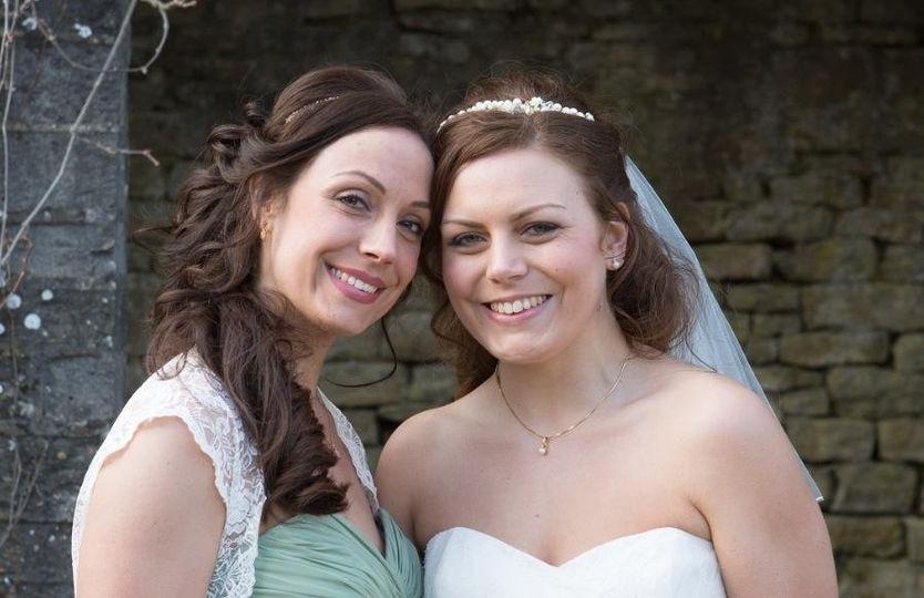 Bridesmaid & bridal hair
