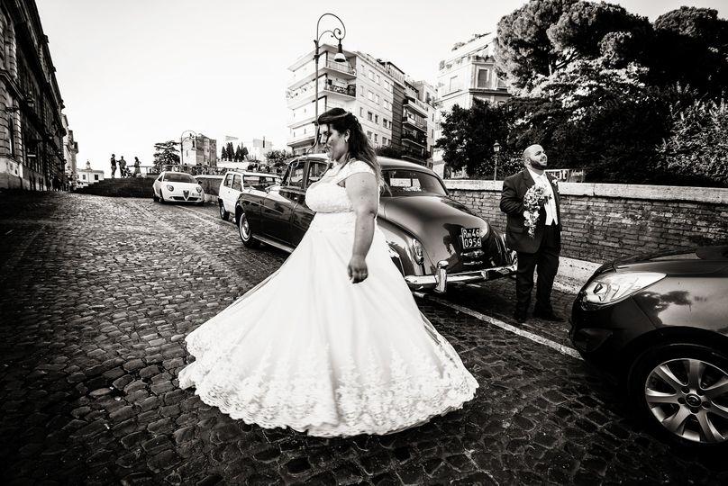 D+C wedding b/w