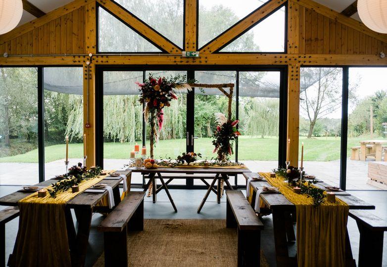 Intimate wedding banquet