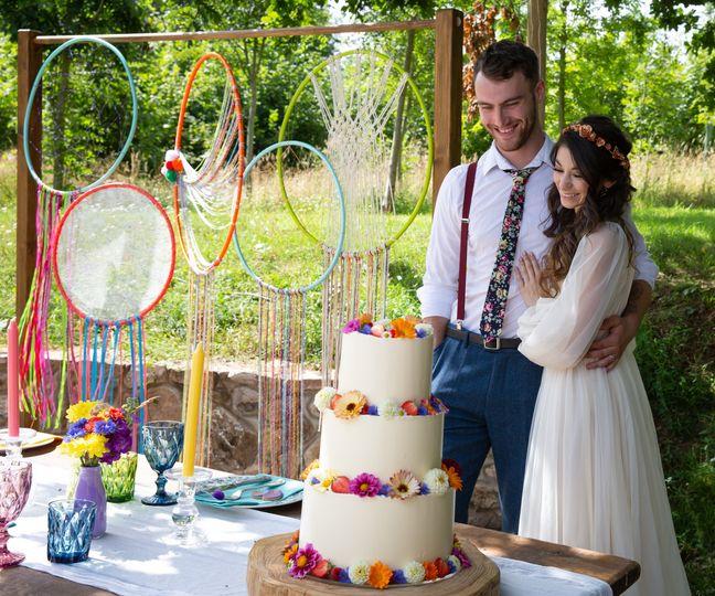 Festival wedding styling
