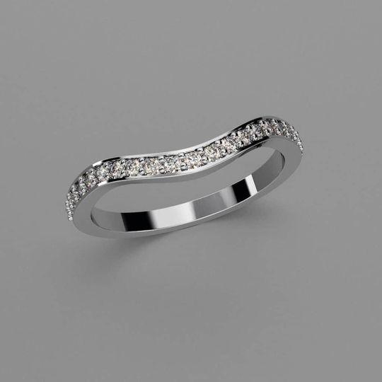 Bespoke-shaped wedding ring