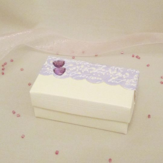 Handmade wedding favour box