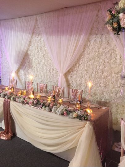 Floral high table