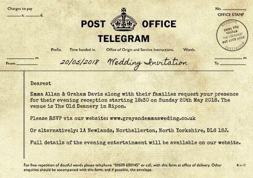 Customised invitation
