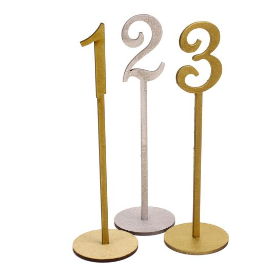 French Script Table Numbers