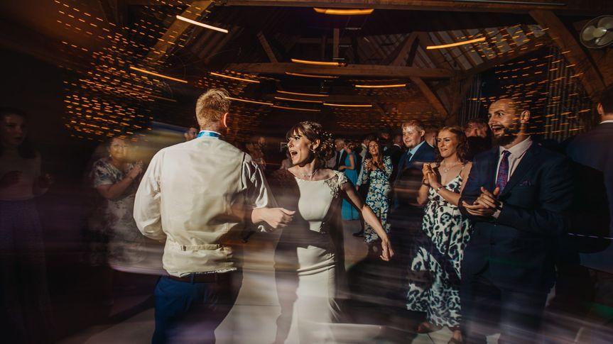 Ceilidh dancing at reception