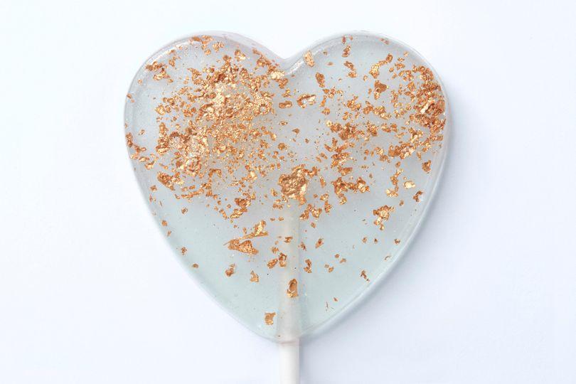 Sparkling Love Heart Lollipops