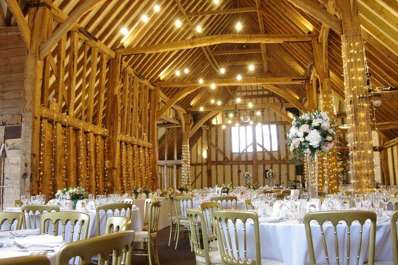 The Essex barn wedding breakfast