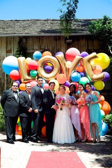 Love letters and colourful balloons