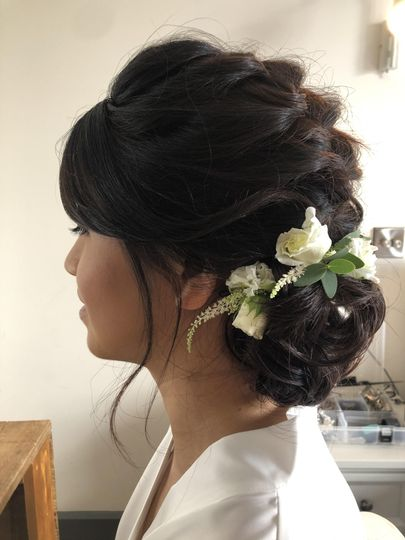 Low side braided chignon