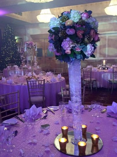 Down Hall Country House Hotel Pale Pink Sequin Table Cloths