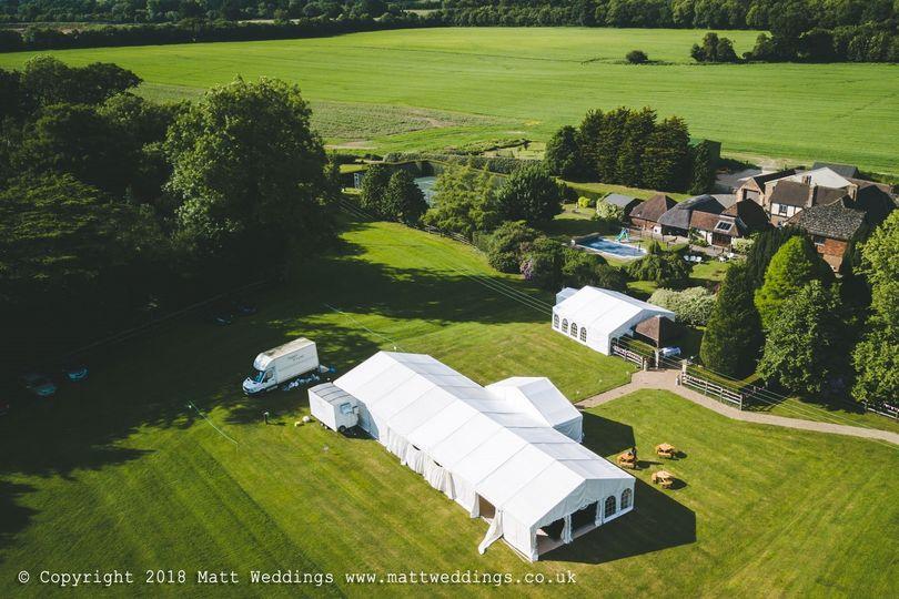 Brewerstreet Farmhouse Estate Aerial Photo
