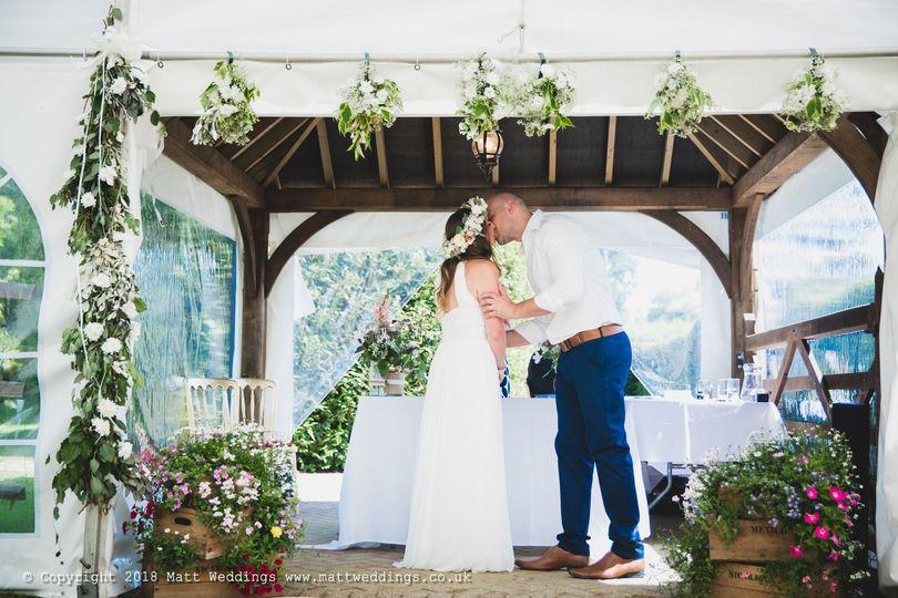 On site wedding ceremony