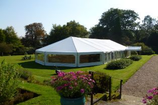 Marquee hire at Birdsgrove House
