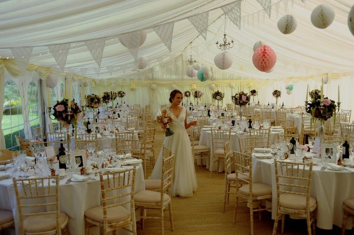 White lace wedding bunting