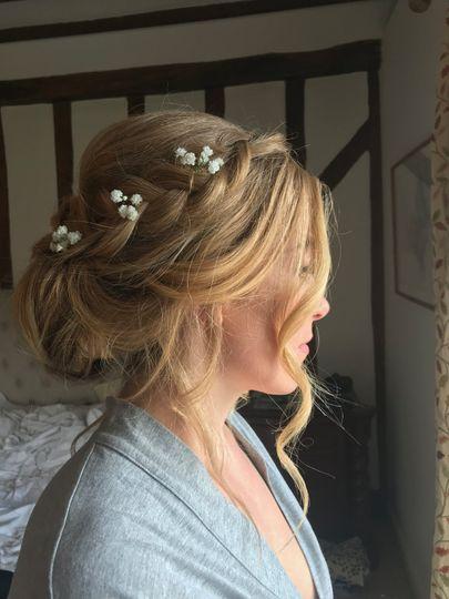 Bridesmaids hair up