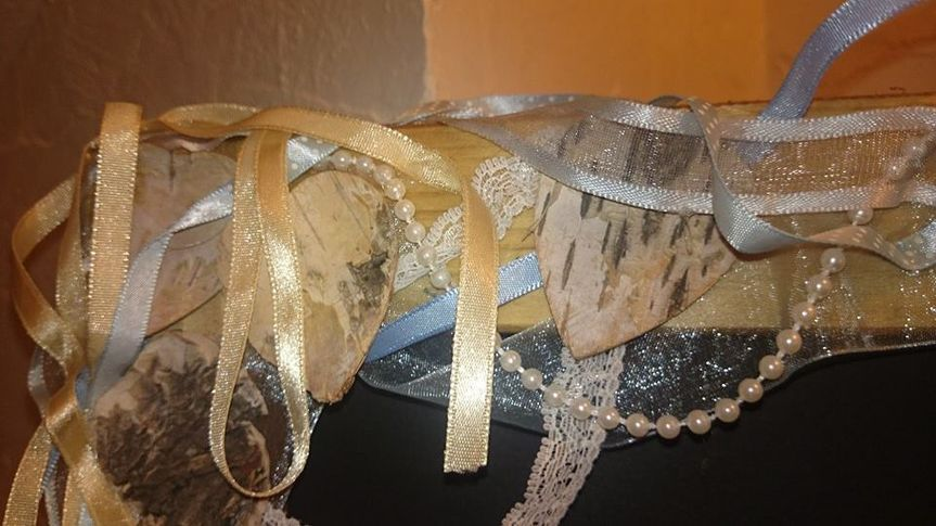 Beads lace ribbon very vintage